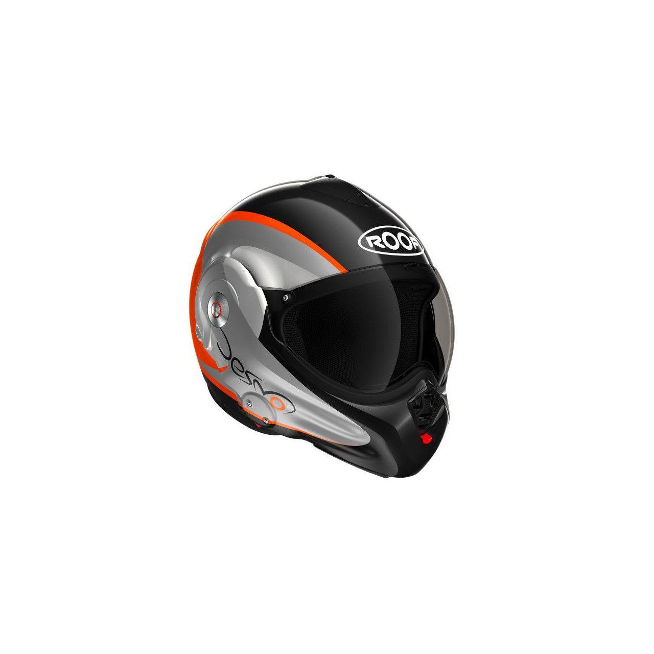 ROOF Casque RO32 Desmo Fluo Noir Orange