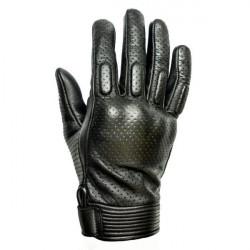 Gants Side Cuir Perforé Noir