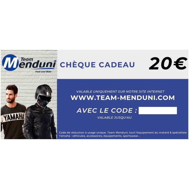 TEAMMENDUNI Chèque cadeau Team Menduni