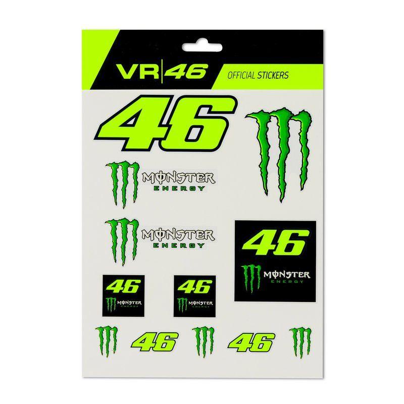 VALENTINO ROSSI Autocollants stickers Monster VR46