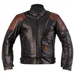 Blouson moto cuir homme Chuck