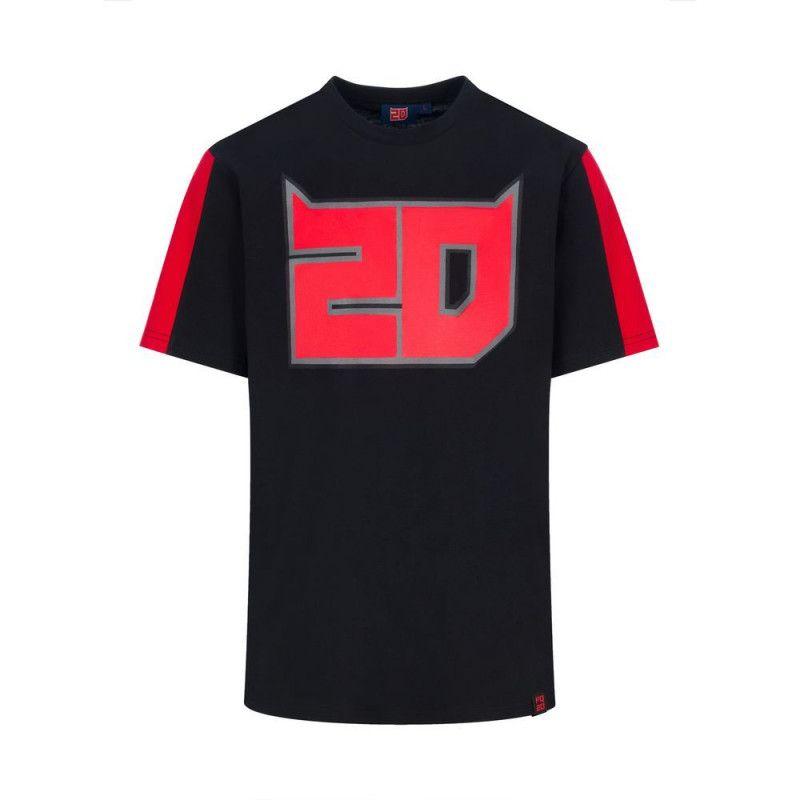 Quartararo T-shirt homme officiel FQ20 noir El Diablo 2021