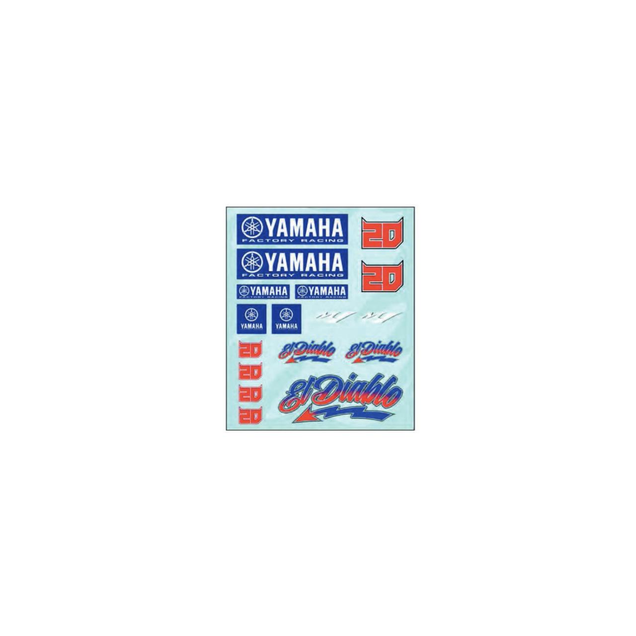 YAMAHA Autocollant sticker Quartararo El Diablo