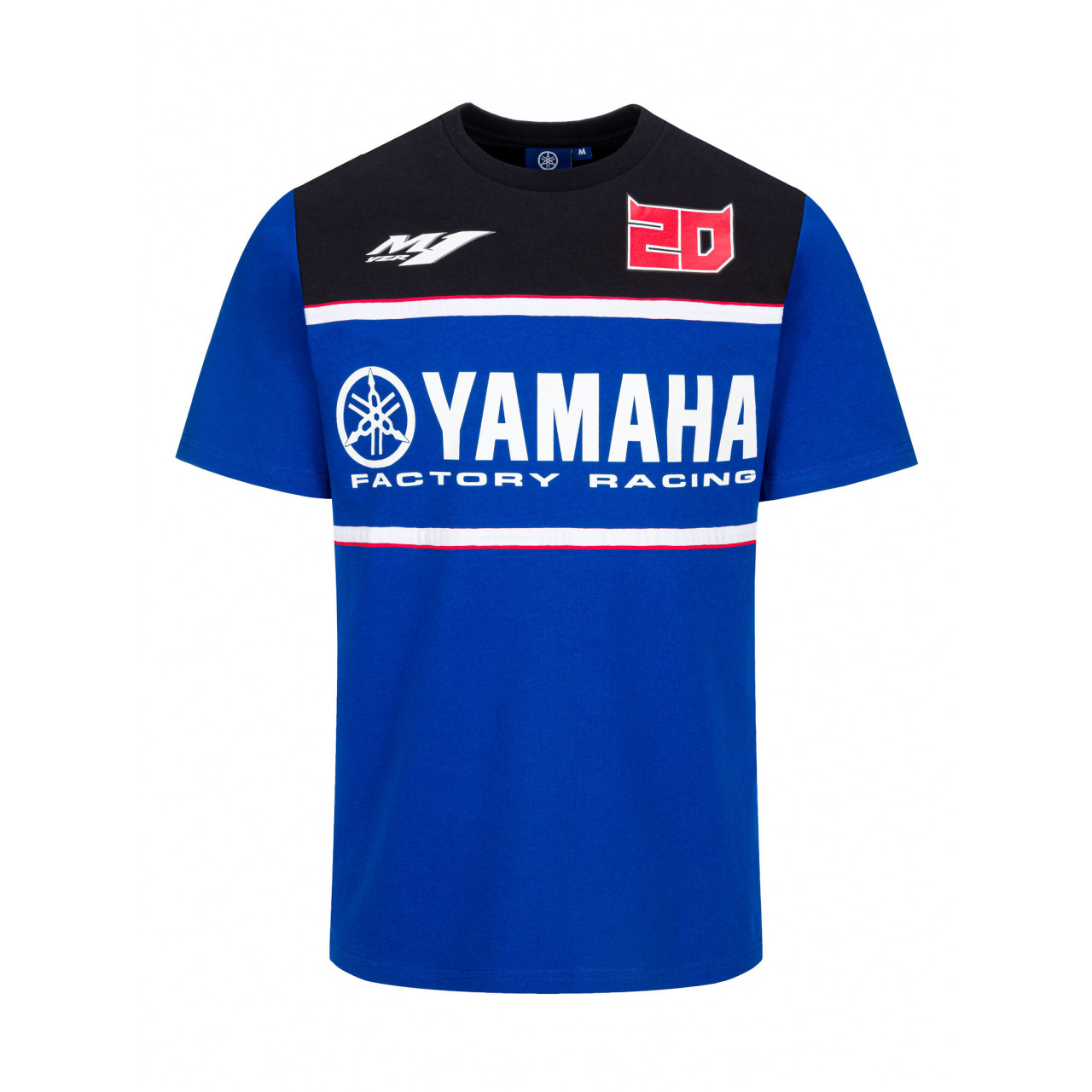 YAMAHA T-shirt homme Fabio Quartararo 2021 bleu et noir