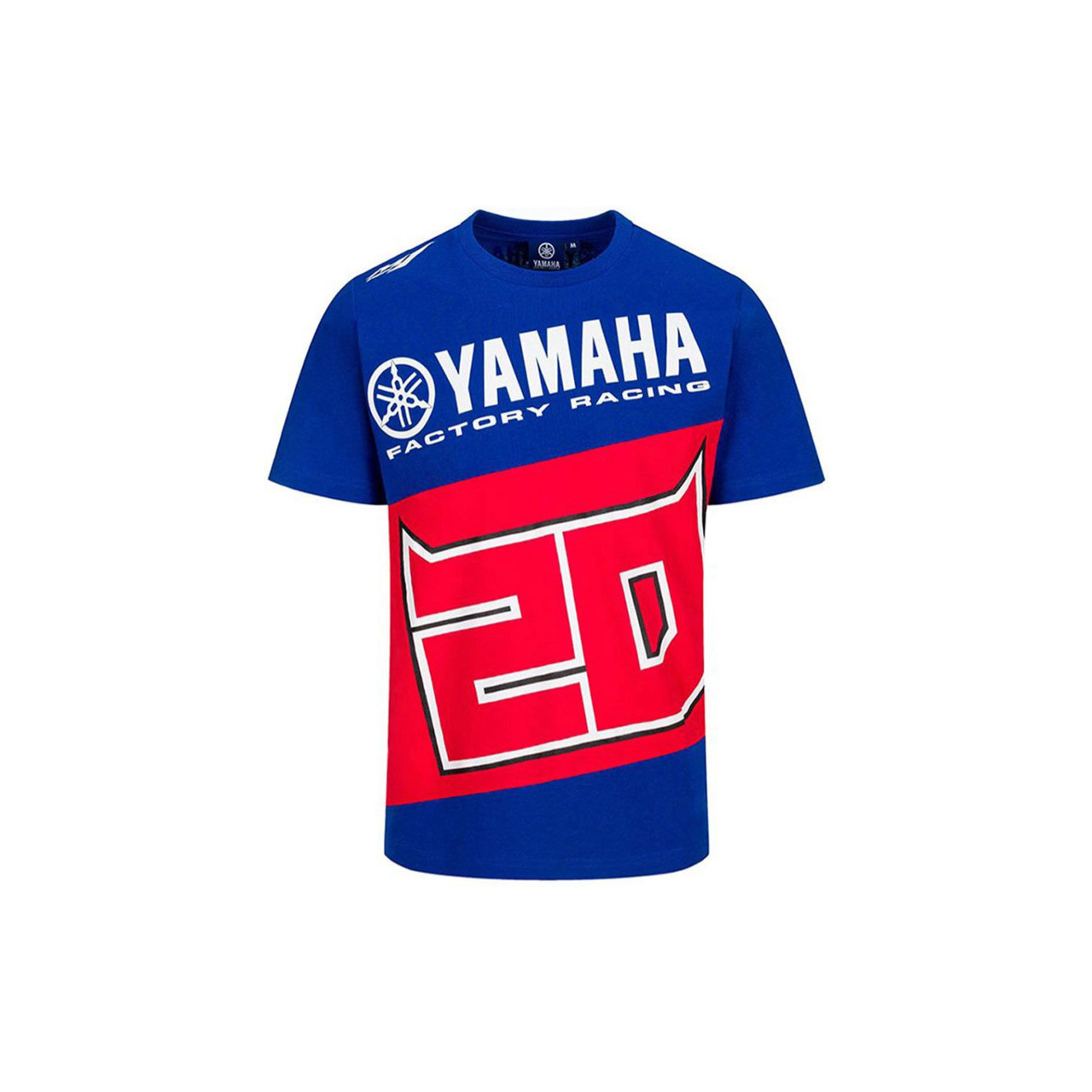 YAMAHA T-shirt homme Fabio Quartararo 2021 bleu et rouge
