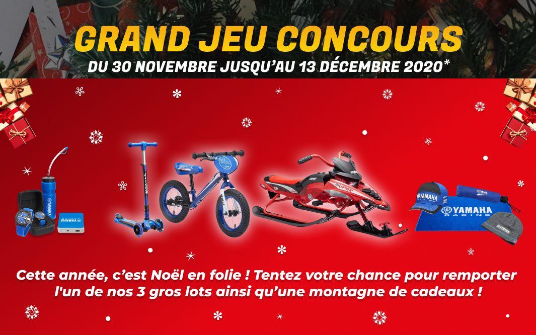 jeu concours Noël Yamaha Team Menduni 2020